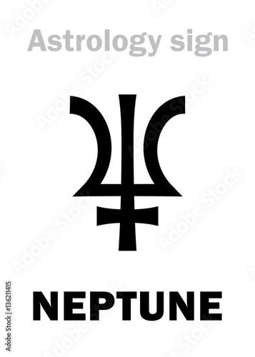 Astrology Alphabet Neptune Poseidon Higher Global Planet