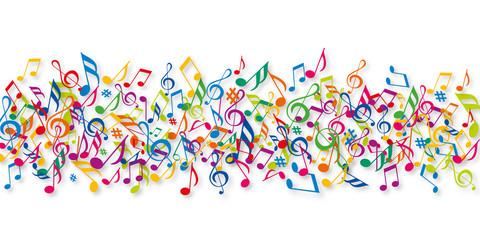 Fototapeta Muzyka / instrumenty Notes de musique - Musique - Couleurs