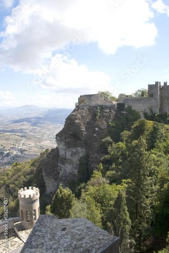 Fotografie, Obraz  Castle of Veneri (Castelo di Veneri), in the town of Erice, Sicily, Italy overlo
