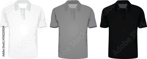 Man polo t-shirt vector