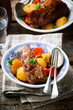 Veal Stew with Vegetables.style rustic