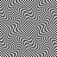 Checkerboard Warp Pattern Repeats Seamlessly.