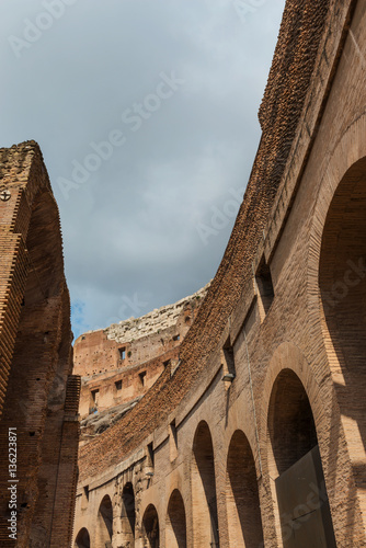 Interior of the Colosseum (Coliseum) in Rome Wallpaper Mural
