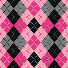 Dashed Argyle Pattern In Pink ...