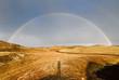 canvas print picture - Doppelter Regenbogen über Island