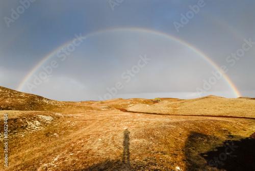 Fototapeta Doppelter Regenbogen über Island obraz na płótnie
