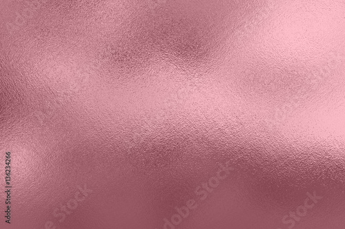 Fototapeta Pink foil background, metal texture