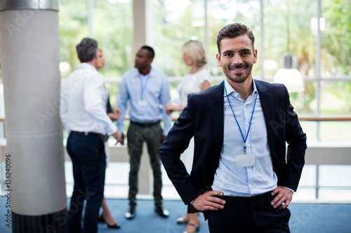Valokuva  Male business executive at conference center