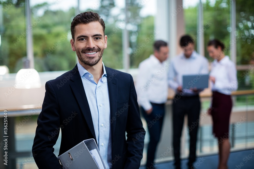 Fototapeta Male business executive at conference center