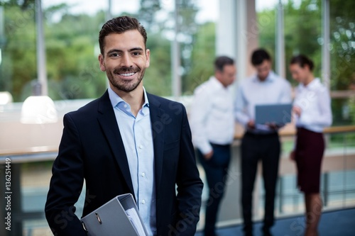 Photo  Male business executive at conference center