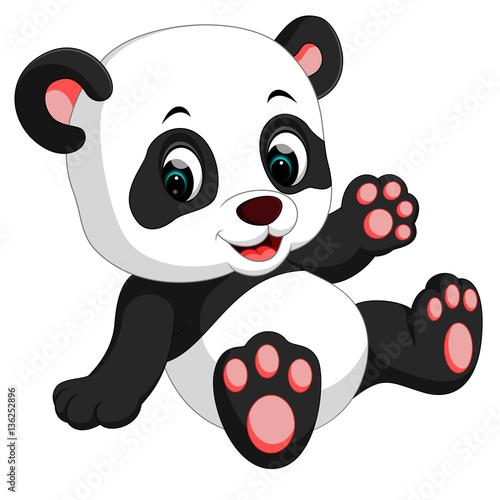Fototapeta premium śliczna panda kreskówka