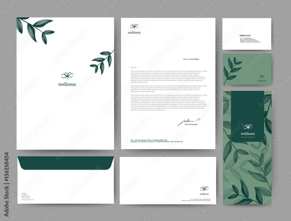Obraz Branding identity template corporate company design fototapeta, plakat