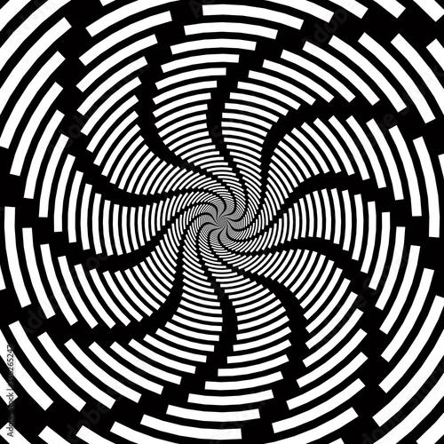 Fotografie, Obraz  Radial involute  vector   abstract background