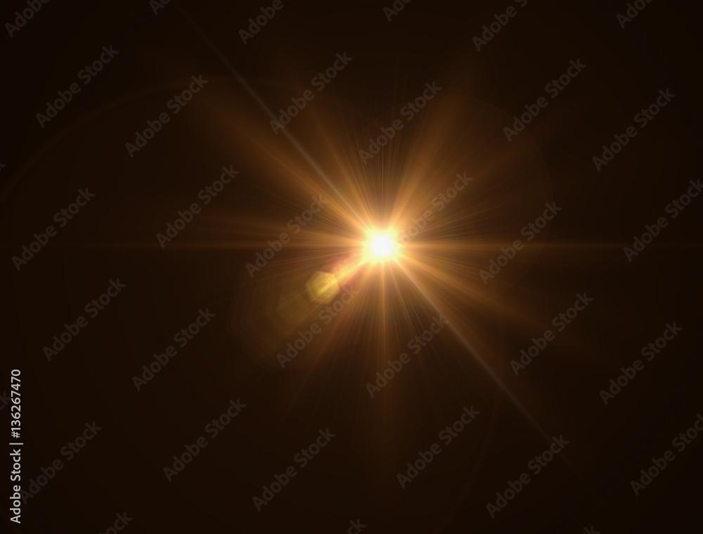 Fototapety, obrazy:  lighting warm flare