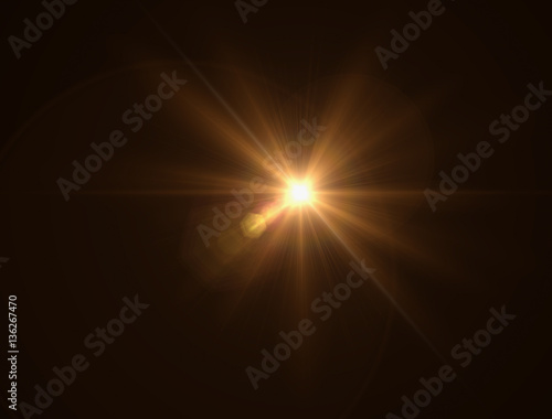Photographie lighting warm flare