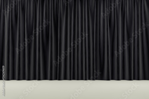 Fotografie, Tablou  curtain or drapes background. 3d render