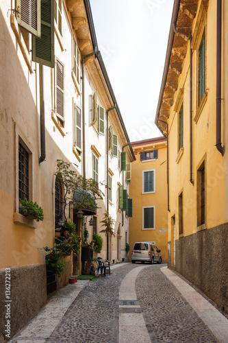 Wall Murals One of the streets of Verona, Veneto region, Italy.