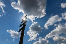 Old Telegraph Pole, Profiled O...