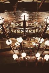 Fototapeta na wymiar bronze medieval chandelier
