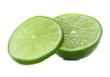 Citrus lime fruit isolated on white background