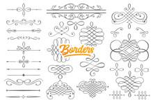 Hand Drawn Borders Doodle Set ...