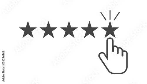 Fotografía  Customer reviews, rating, user feedback concept vector icon