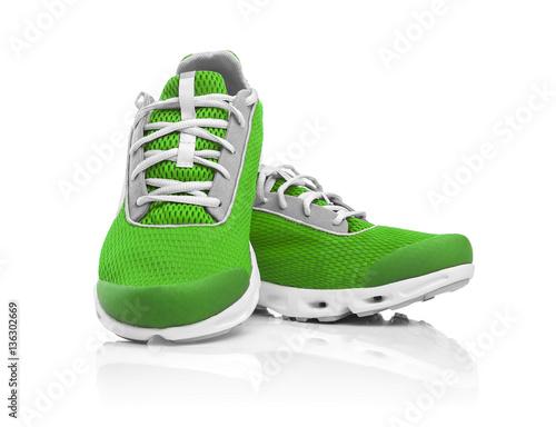 Fotografía  Unbranded modern sneakers.