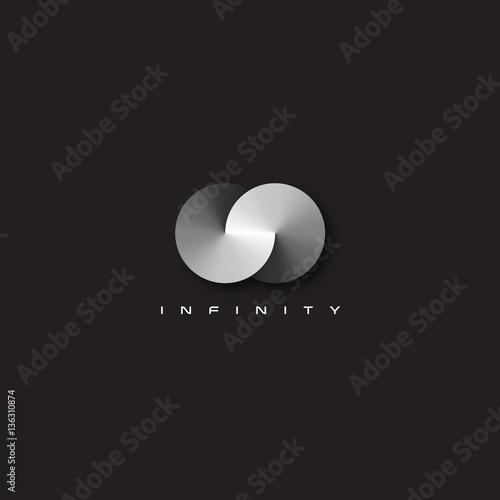 Stampa su Tela Vector modern and elegant infinity symbol illustration.