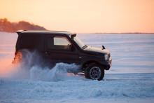 Suzuki Jimny Moving On Ice Of ...