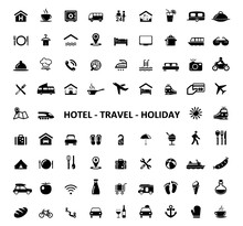 Icons Hotel Travel Holiday