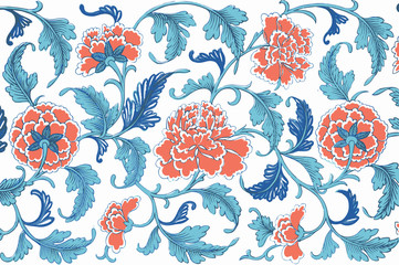 Traditional Chinese floral ornament