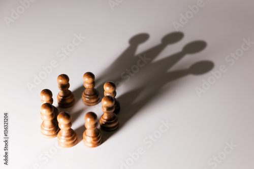 Fotografia  business leadership, teamwork power and confidence concept