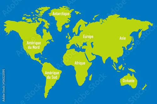 Garden Poster World Map carte monde stylisé 4
