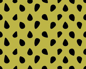 Dots and circles. Black on green color