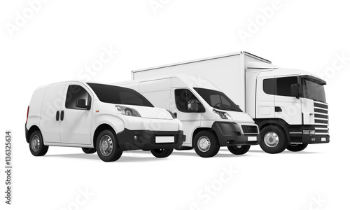 Fleet of Delivery Vehicles Wallpaper Mural