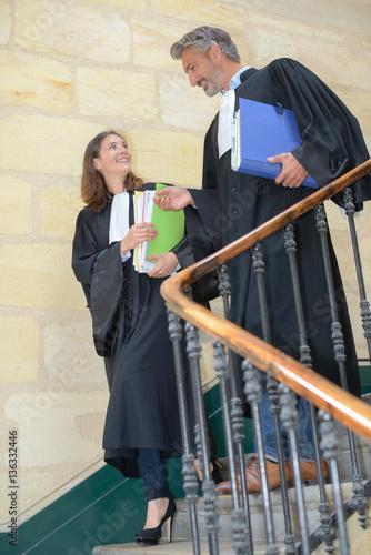 Fényképezés  Magistrates decending staircase