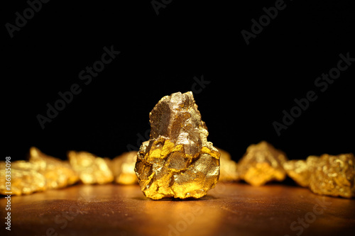 Fotografia, Obraz  Closeup of big gold nugget