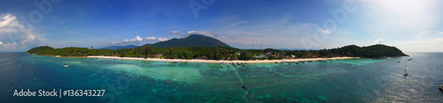 Aerial panorama view on Ko Lipe island