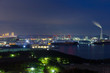 Great Seto Bridge and industrial district at night