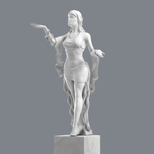 Marble Sculpture Of A Beautifu...