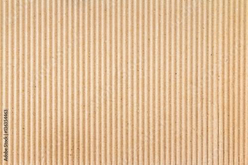 Brown paper box or Corrugated cardboard sheet texture Fotobehang