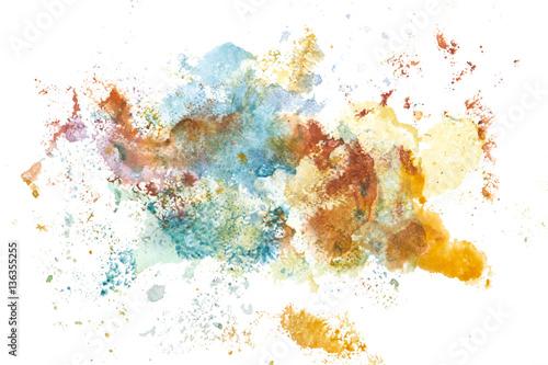 Plakat Farba ręka streszczenie sztuka akwarela. tło