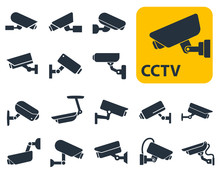 CCTV Security Cameras Vector I...