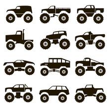 12 Icons Monster Trucks