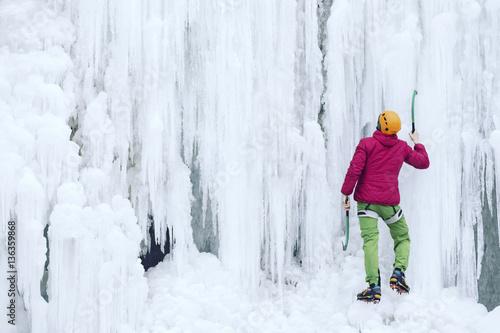 In de dag Alpinisme Ice climbing.