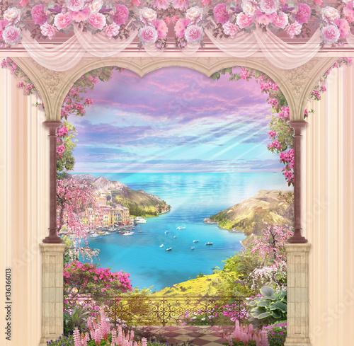 Fotografie, Obraz  arch flower beautiful