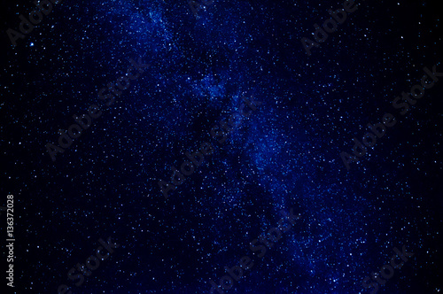 Foto op Aluminium Heelal milky way on dark blue background with many stars