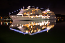 Big Luxury Cruise Ship St Night