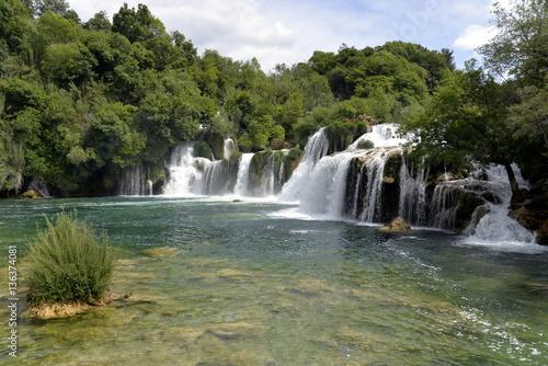 Foto op Canvas Watervallen CASCADAS DE KRKA