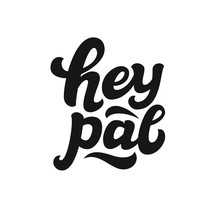 Hey Pal Hand Lettering Text
